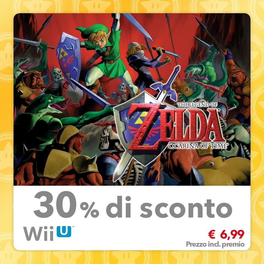 Sconto del 30% su The Legend of Zelda: Ocarina of Time (Virtual Console N64)