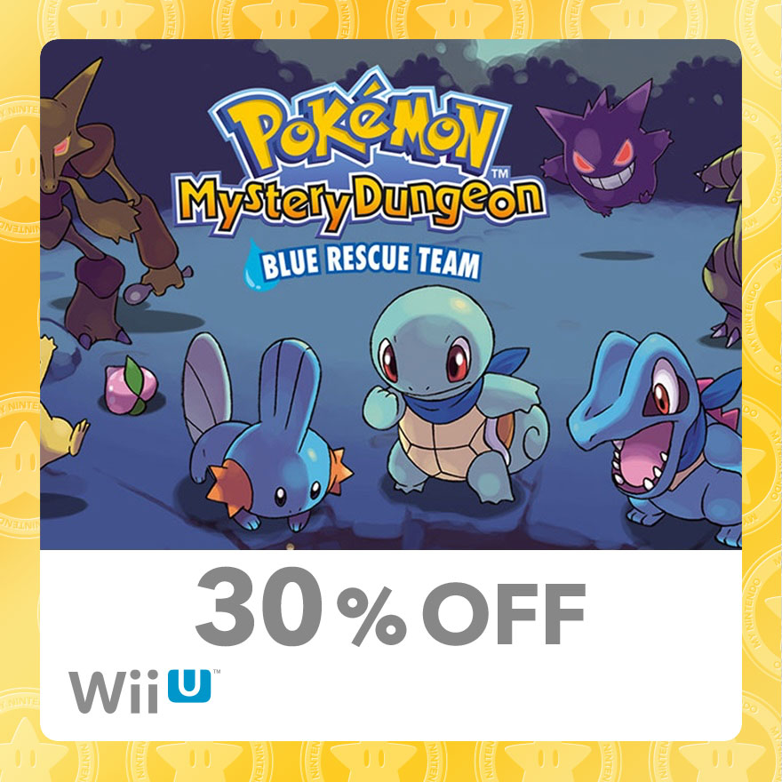 30% Discount on Pokémon™ Mystery Dungeon: Blue Rescue Team