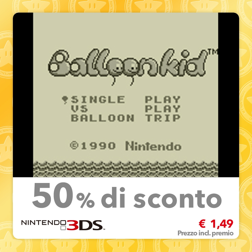 Sconto del 50% su Balloon Kid (Virtual Console GB)