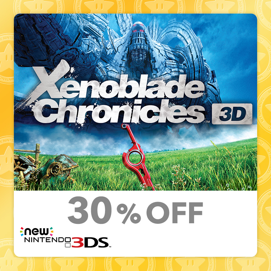 30% Discount on Xenoblade Chronicles™ 3D (New Nintendo 3DS)