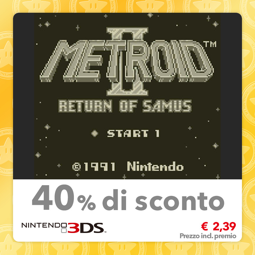 Sconto del 40% su Metroid II: Return of Samus (Virtual Console GB)