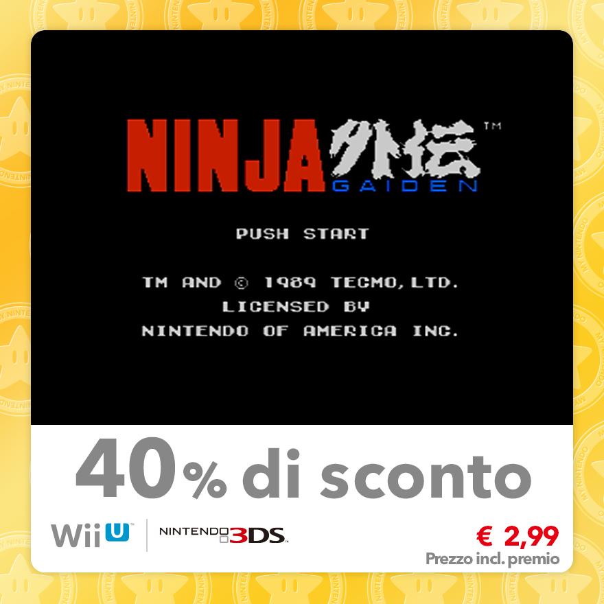 Sconto del 40% su Ninja Gaiden (Virtual Console NES)