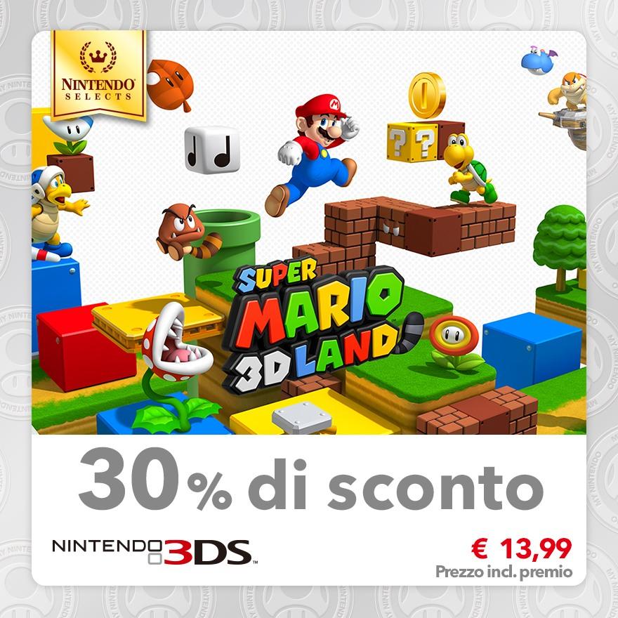 Sconto del 30% su Nintendo Selects: Super Mario 3D Land
