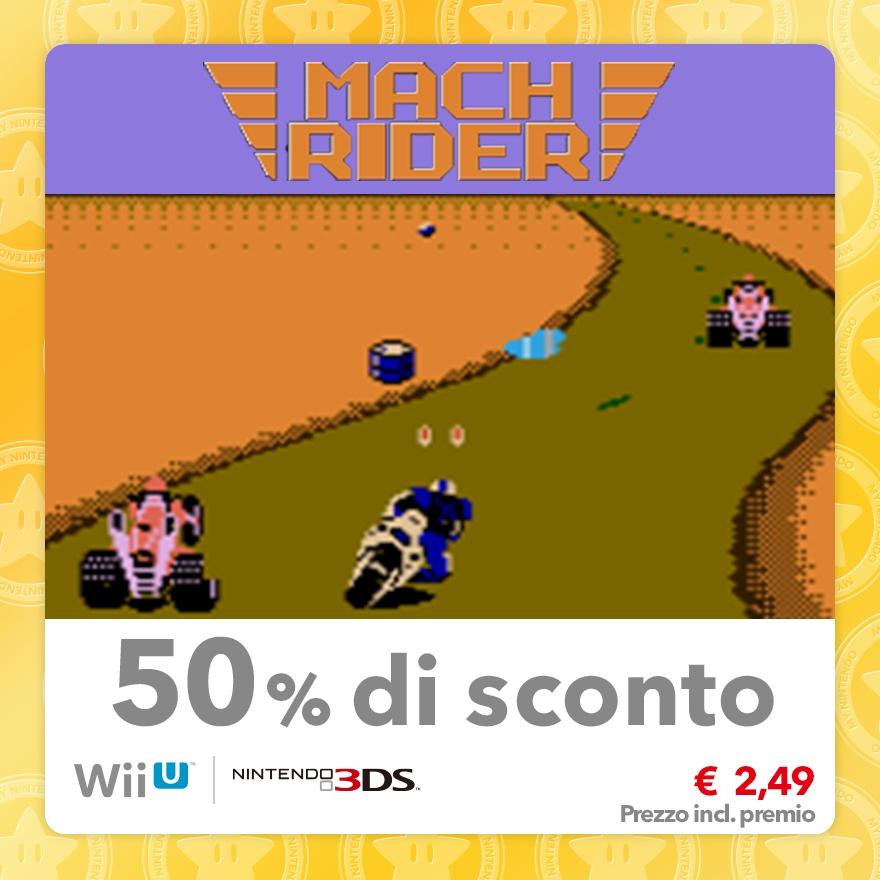 Sconto del 50% su Mach Rider (Virtual Console NES)