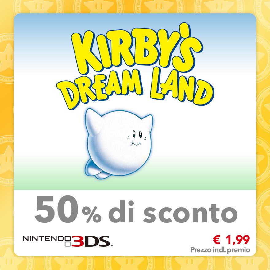 Sconto del 50% su Kirby's Dream Land (Virtual Console GB)