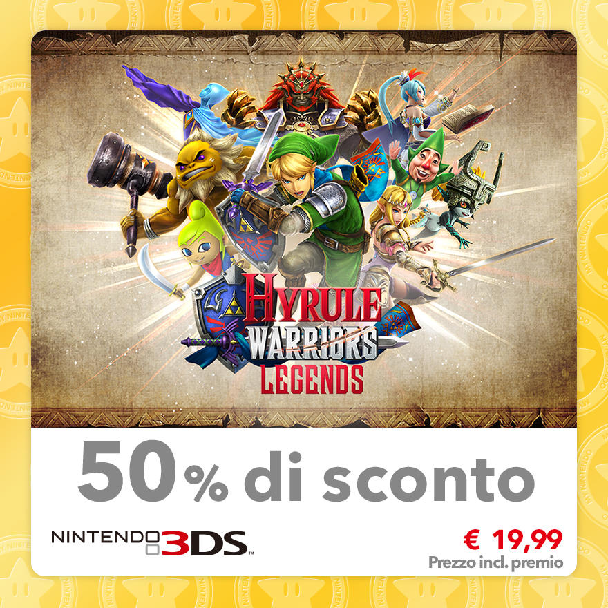 Sconto del 50% su Hyrule Warriors Legends
