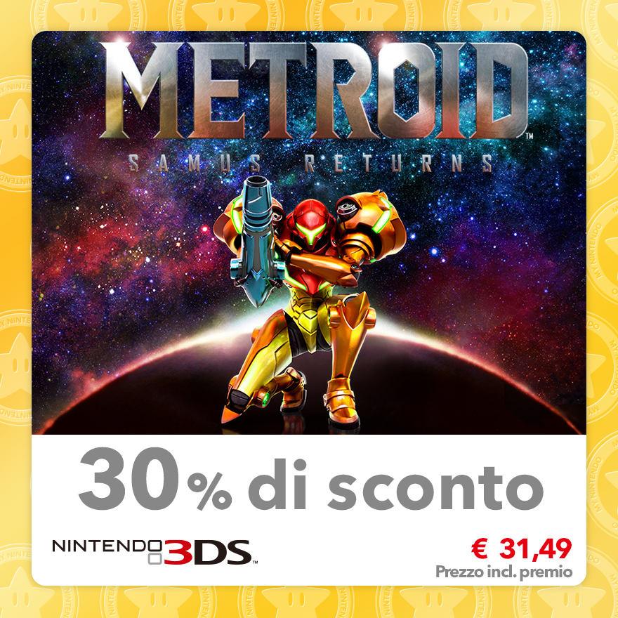Sconto del 30% su Metroid: Samus Returns