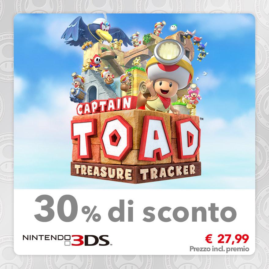 Sconto del 30% su Captain Toad: Treasure Tracker