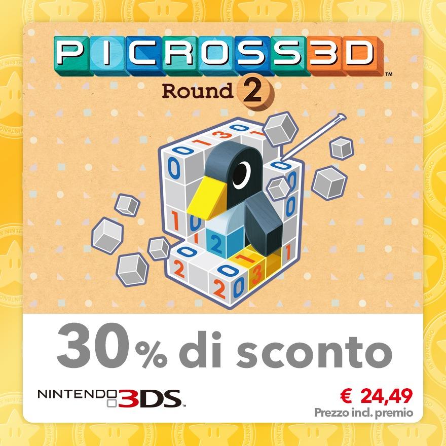 Sconto del 30% su Picross 3D: Round 2