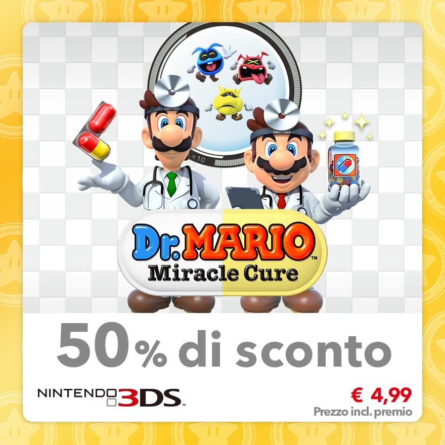 Sconto del 50% su Dr. Mario: Miracle Cure