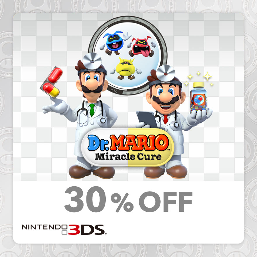 30% Discount on Dr. Mario™: Miracle Cure (Nintendo 3DS)