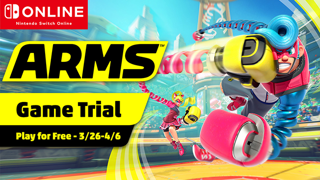 Limited Time Only Nintendo Switch Online Game Trial Play Arms For Free My Nintendo News My Nintendo