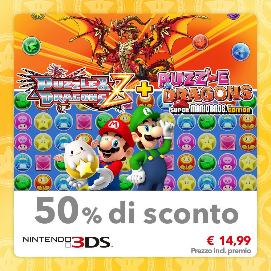 Sconto del 50% su Puzzle & Dragons Z + Puzzle & Dragons: Super Mario Bros. Edition