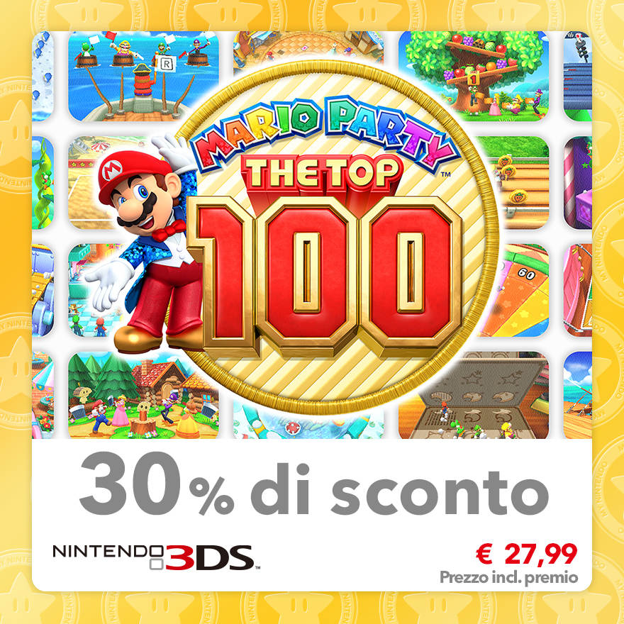 Sconto del 30% su Mario Party: The Top 100