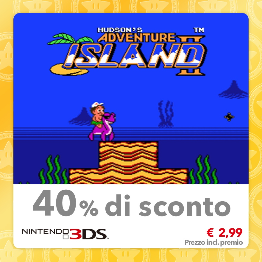 Sconto del 40% su Adventure Island II (Virtual Console NES)