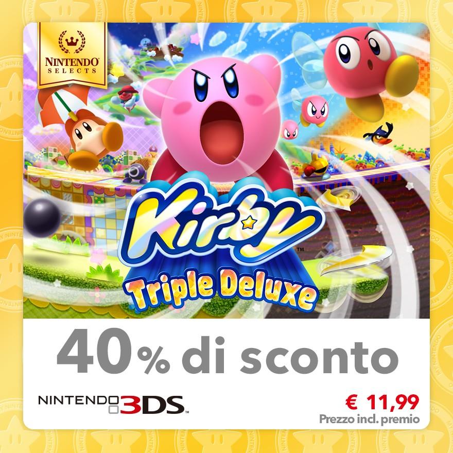 Sconto del 40% su Nintendo Selects: Kirby: Triple Deluxe