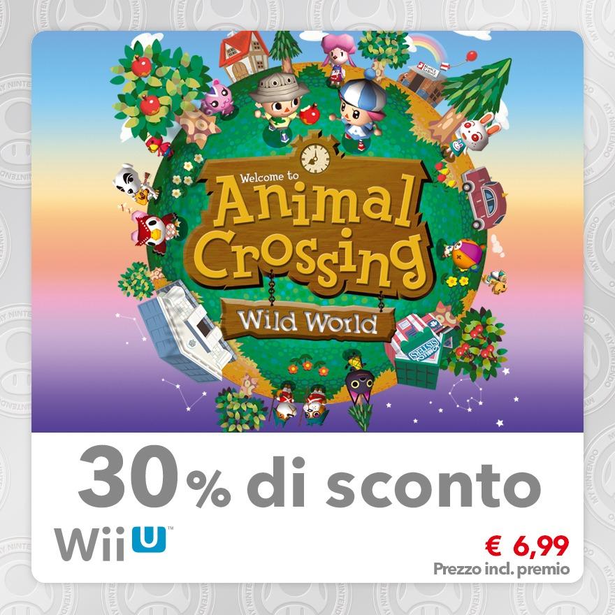 Sconto del 30% su Animal Crossing: Wild World (Virtual Console NDS)