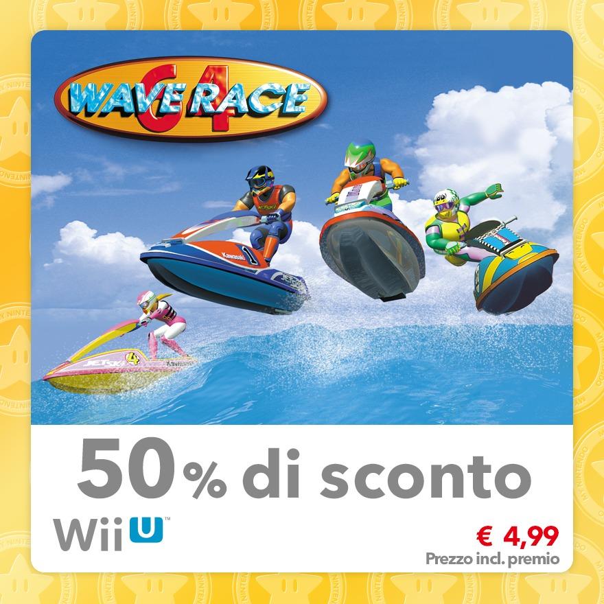 Sconto del 50% su Wave Race 64 (Virtual Console N64)